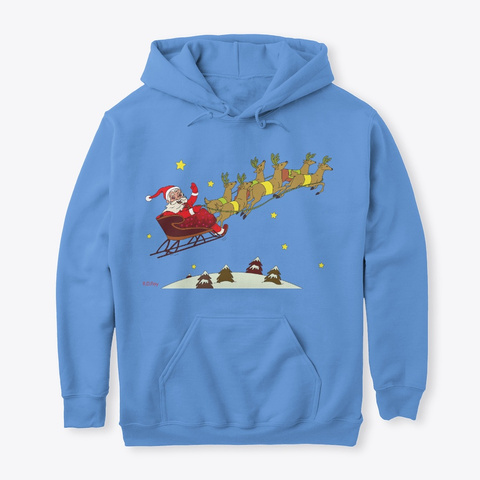 Christmas Santa Carolina Blue Sweatshirt Front