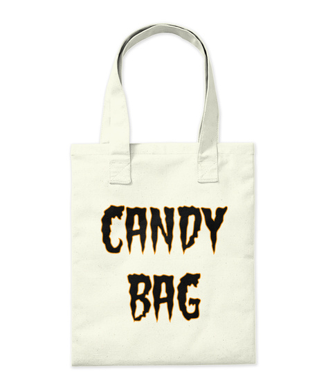 Candy Bag Natural Tote Bag Back