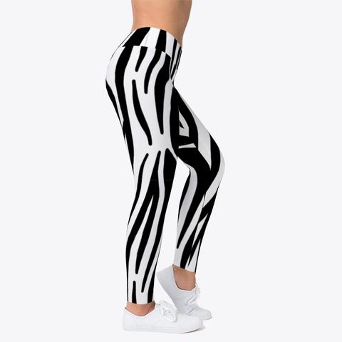 Luxury Zebra Leggings  Standard T-Shirt Right