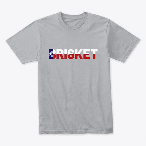 Texas Brisket Heather Grey T-Shirt Front