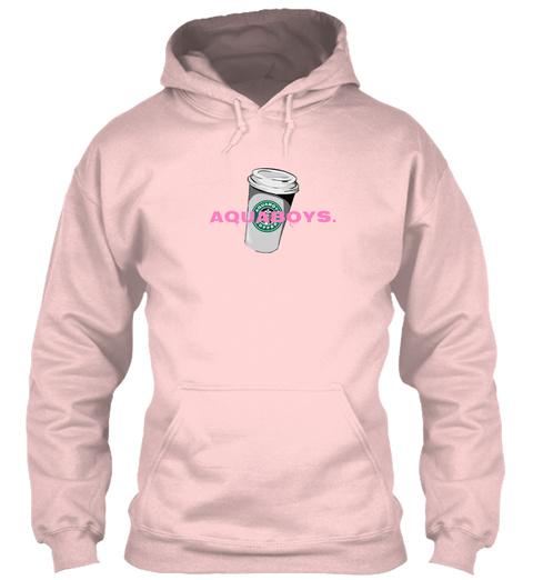Pinky Starbux Hoodie Light Pink T-Shirt Front