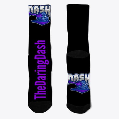 Dash Classic Icon Socks Black T-Shirt Front