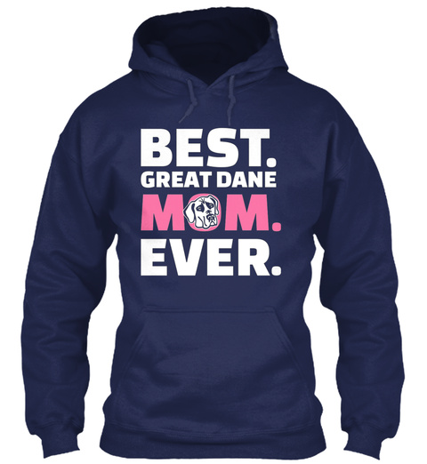 Great Dane Mom Navy T-Shirt Front