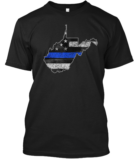 West Virginia Thin Blue Line Black T-Shirt Front