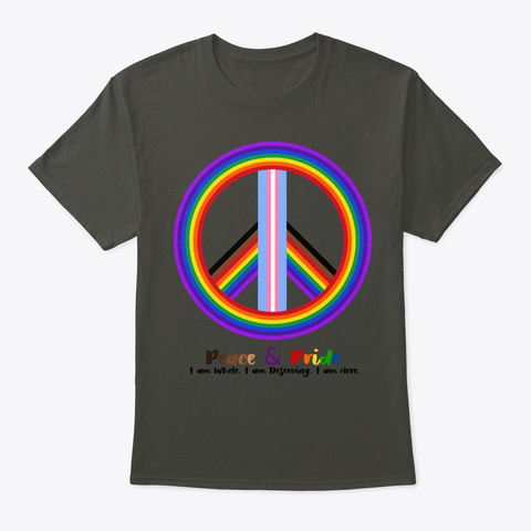 Peace And Pride Tees Smoke Gray T-Shirt Front