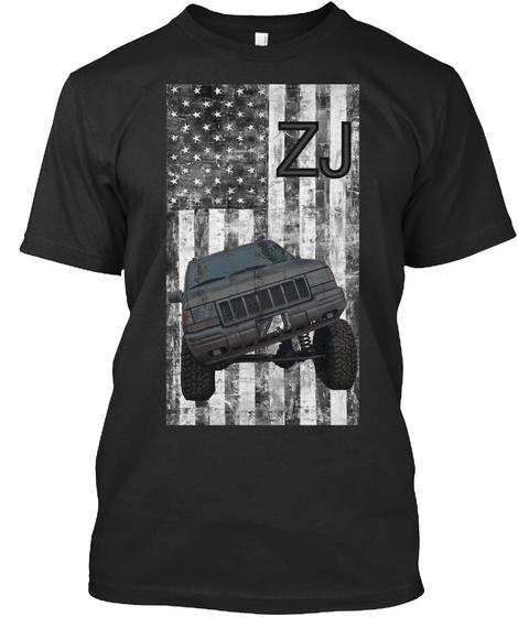 Zj Black T-Shirt Front
