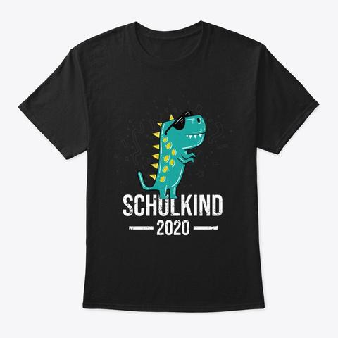 Schulkind 2020   Dino Boy Gift Black T-Shirt Front