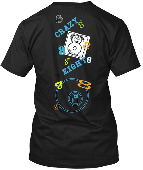 Crazy Eight Black T-Shirt Back