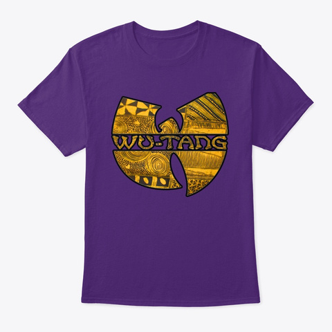 Wu Afro Vintage  Symbol Purple T-Shirt Front