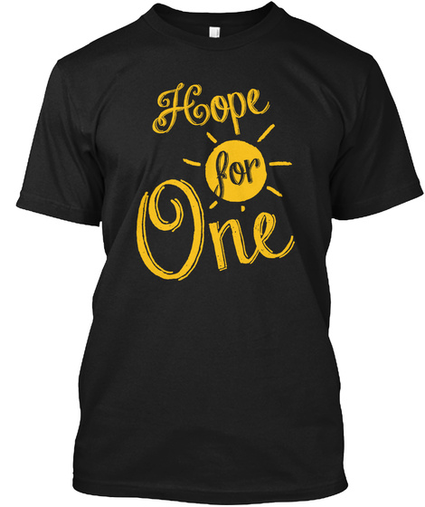 Hope For One   Sun Black T-Shirt Front
