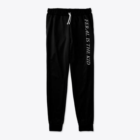 Feral Logo Joggers Black T-Shirt Front