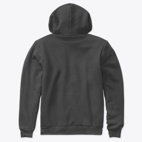 Hoodie (W. Frontprint) Dark Grey Heather T-Shirt Back