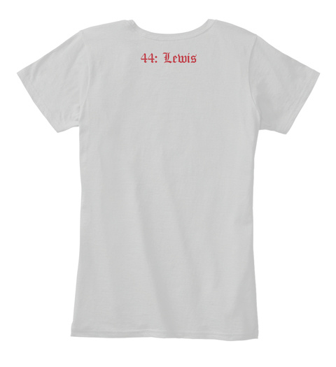 44: Lewis Light Heather Grey T-Shirt Back