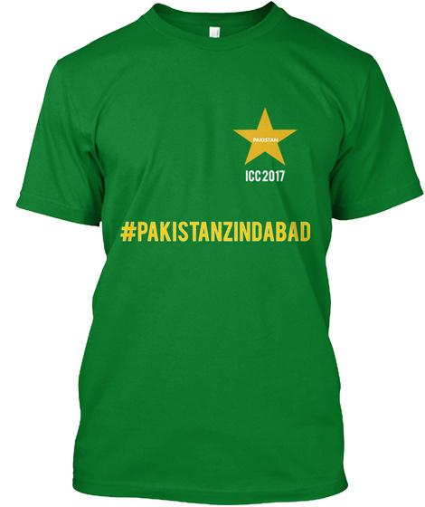 Icc 2017 #Pakistanzindabad Bright Green T-Shirt Front