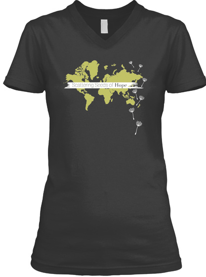 Scattering Seeds Of Hope Black T-Shirt Front