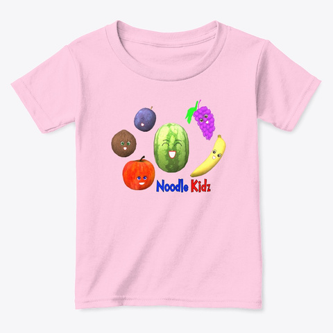Fruits Are Yummy   Toddler Tee Shirt Light Pink  T-Shirt Front