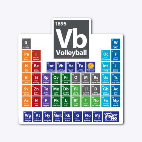 Ivhf: Periodic Table Of Volleyball Standard T-Shirt Front