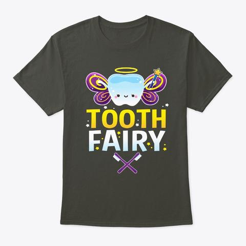 Halloween Costume Tooth Fairy Smoke Gray T-Shirt Front