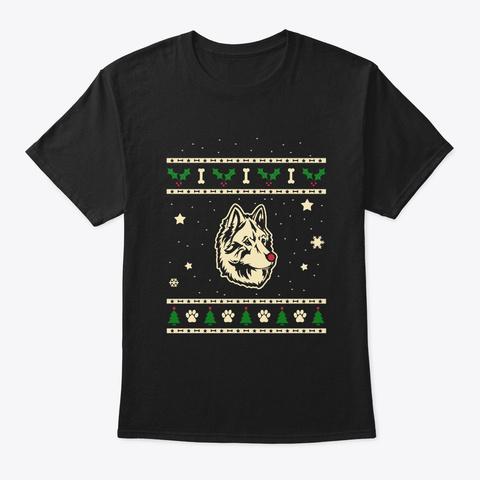 Christmas Bohemian Shepherd Gift Black T-Shirt Front