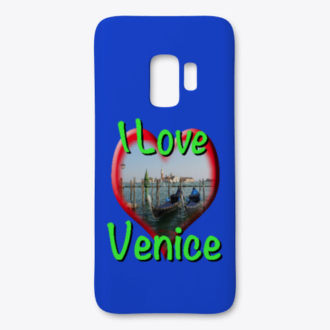 I Love Venice Gondolas Royal Blue T-Shirt Front