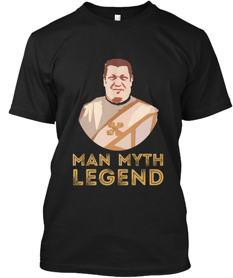 Ibrahim Ayad   Man Myth Legend Black T-Shirt Front