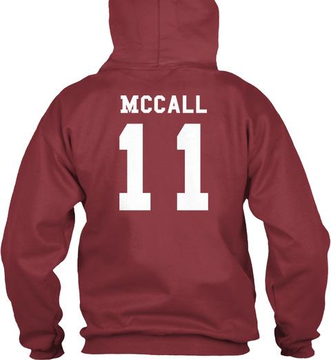 Mc Call 11 Maroon T-Shirt Back