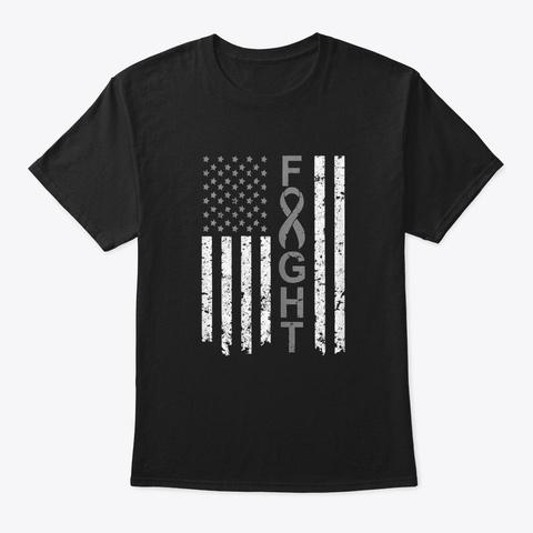 Brain Cancer Awareness T Shirt America  Black T-Shirt Front