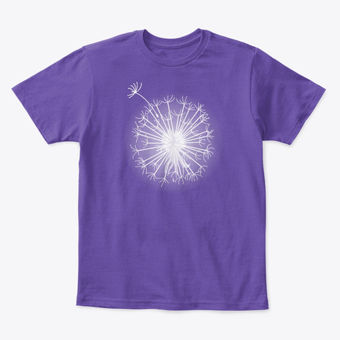 Dandelion Wish Purple  T-Shirt Front