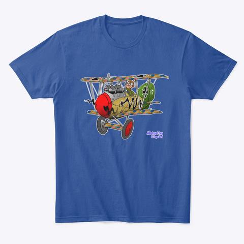 Albatros Dv.A Cartoon Deep Royal T-Shirt Front