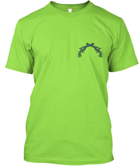 Gun Safety Rules Lime T-Shirt Front