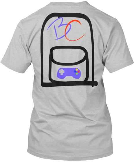 Bc Light Heather Grey  T-Shirt Back