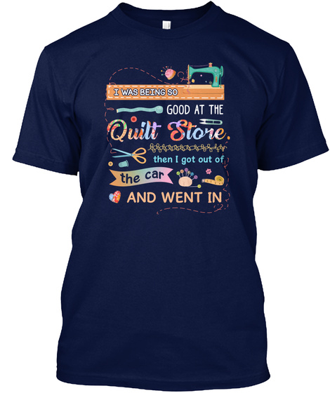 Quilting   Sewing Navy T-Shirt Front