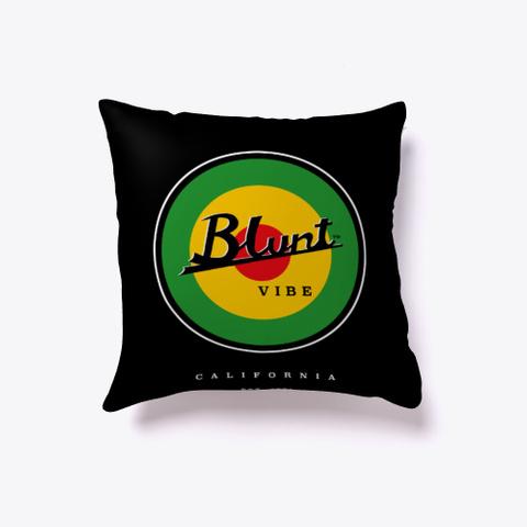 Blunt Vibe  Reversible Pillow Black T-Shirt Front
