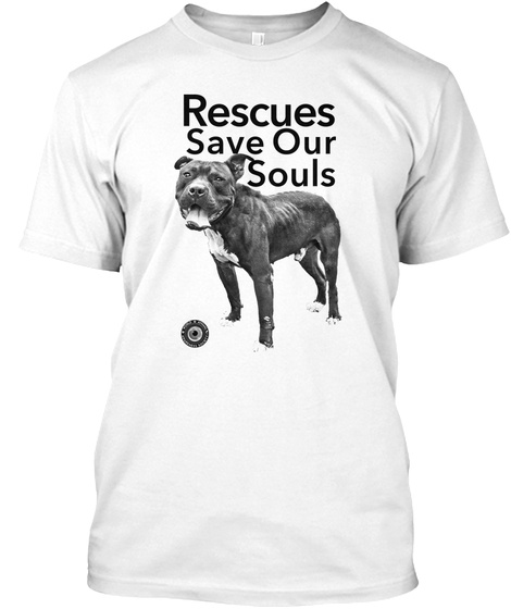 Rescue Save Our Souls White T-Shirt Front