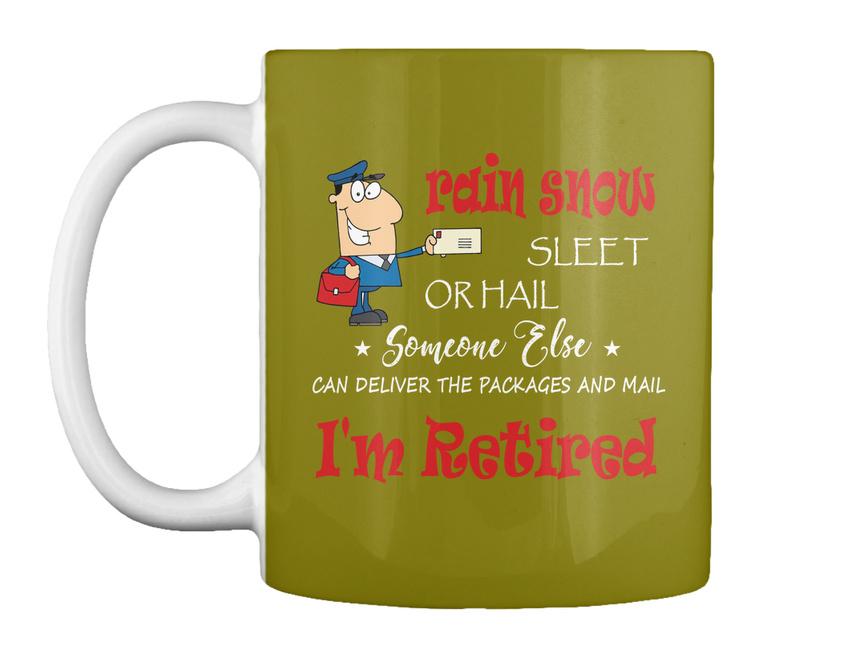 miniature 47 - Funny Retired Postal Worker Mailman Tee - Rain Suck Sleet Or Gift Coffee Mug
