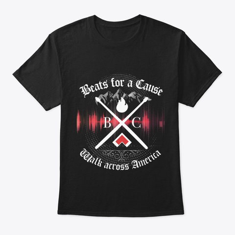 Beats For A Cause Black T-Shirt Front