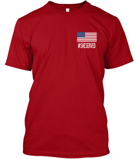 #Sheserved Deep Red T-Shirt Front