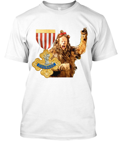 Courage White T-Shirt Front