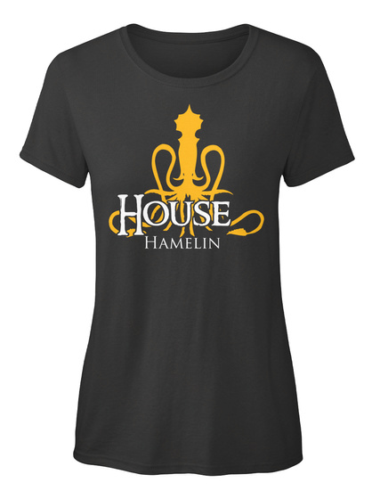Hamelin Family House   Kraken Black T-Shirt Front