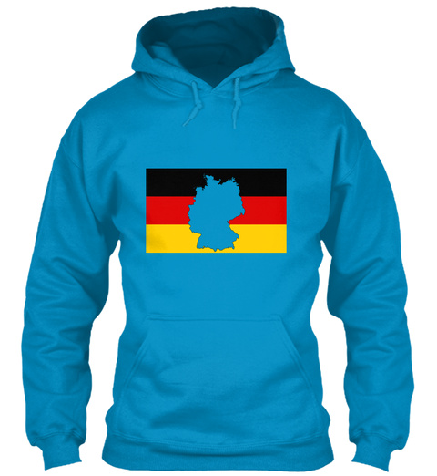 Love Germany 69 Sapphire Blue T-Shirt Front