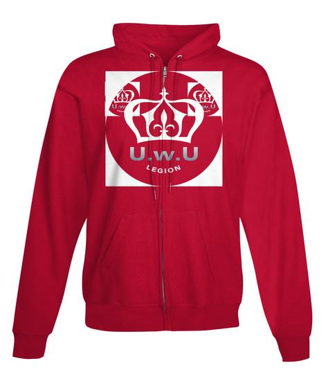 Uwu Legion Motivation Fire Red T-Shirt Front