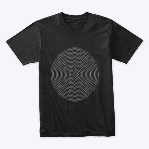 Caos Black T-Shirt Front