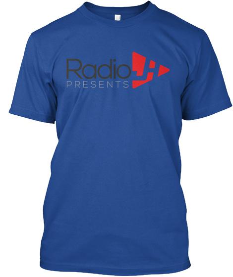Radio Presents Deep Royal T-Shirt Front