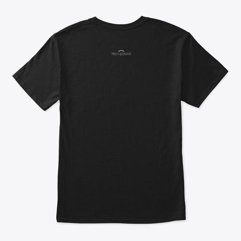 Spooky Gay (White Design) Black T-Shirt Back