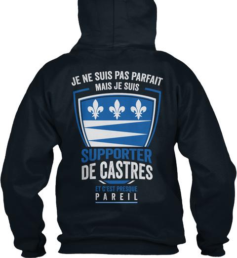 Je Ne Suis Pas Parfait Mais Je Suis Supporter De Castres  Et C'est Presque Pareil French Navy Kaos Back