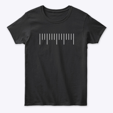 T Shirt: Neat Keys Black T-Shirt Front
