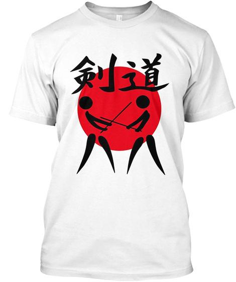Japanese Kendo Martial Art T Shirt White T-Shirt Front