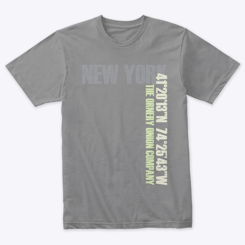 New York Premium Heather T-Shirt Front