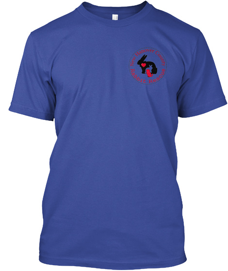 New Hanover County Rabbit Rescue Deep Royal T-Shirt Front
