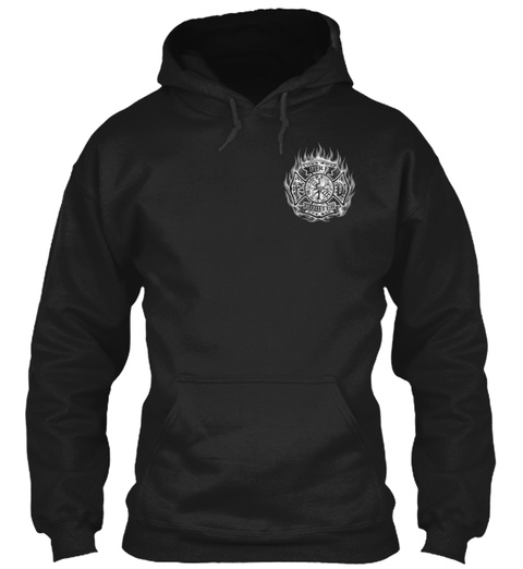 Firefighter In Bunker Gear Black Sweatshirt Front